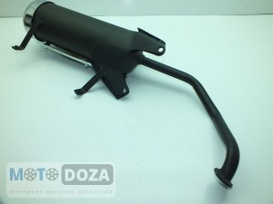 Глушитель GY6-125 (под 2 аморт.)