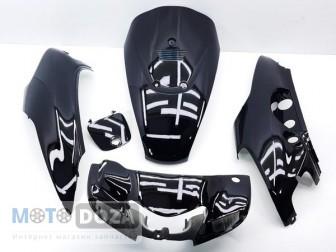 Комплект пластика LETS DX (бабочка) (чёрный)