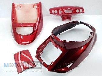 Комплект пластика YAMAHA POCHE 3 KJ (красный)